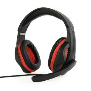 Gembird Gaming headset, 3.5 mm plug, GHS-03, Black, Built-in microphone, Wired